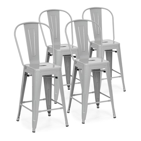 Best Choice Products 24in Set of 4 High Backrest