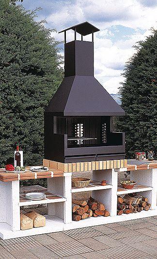 Barbacoa fornells exterior barbacoa fabricada enteramente - Barbacoa metalica exterior ...