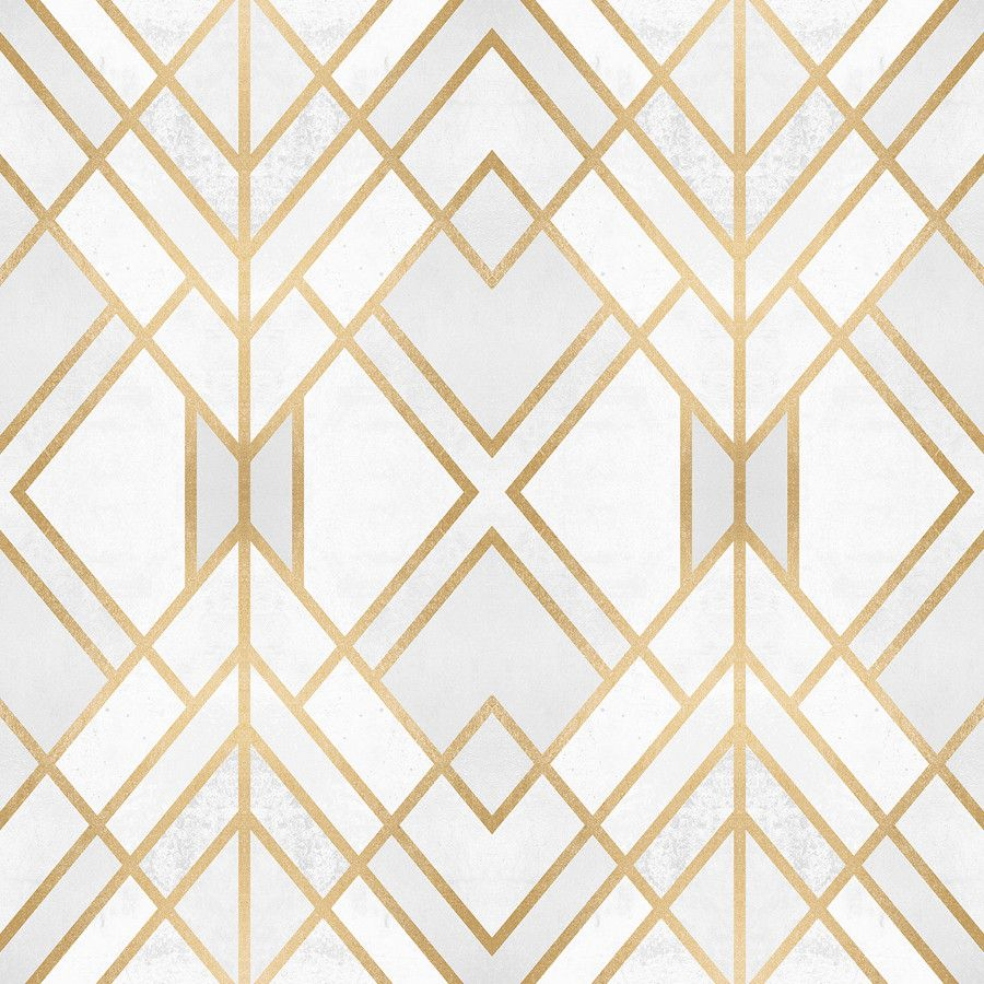 Golden Geo Wallpaper Art deco wallpaper, Accent