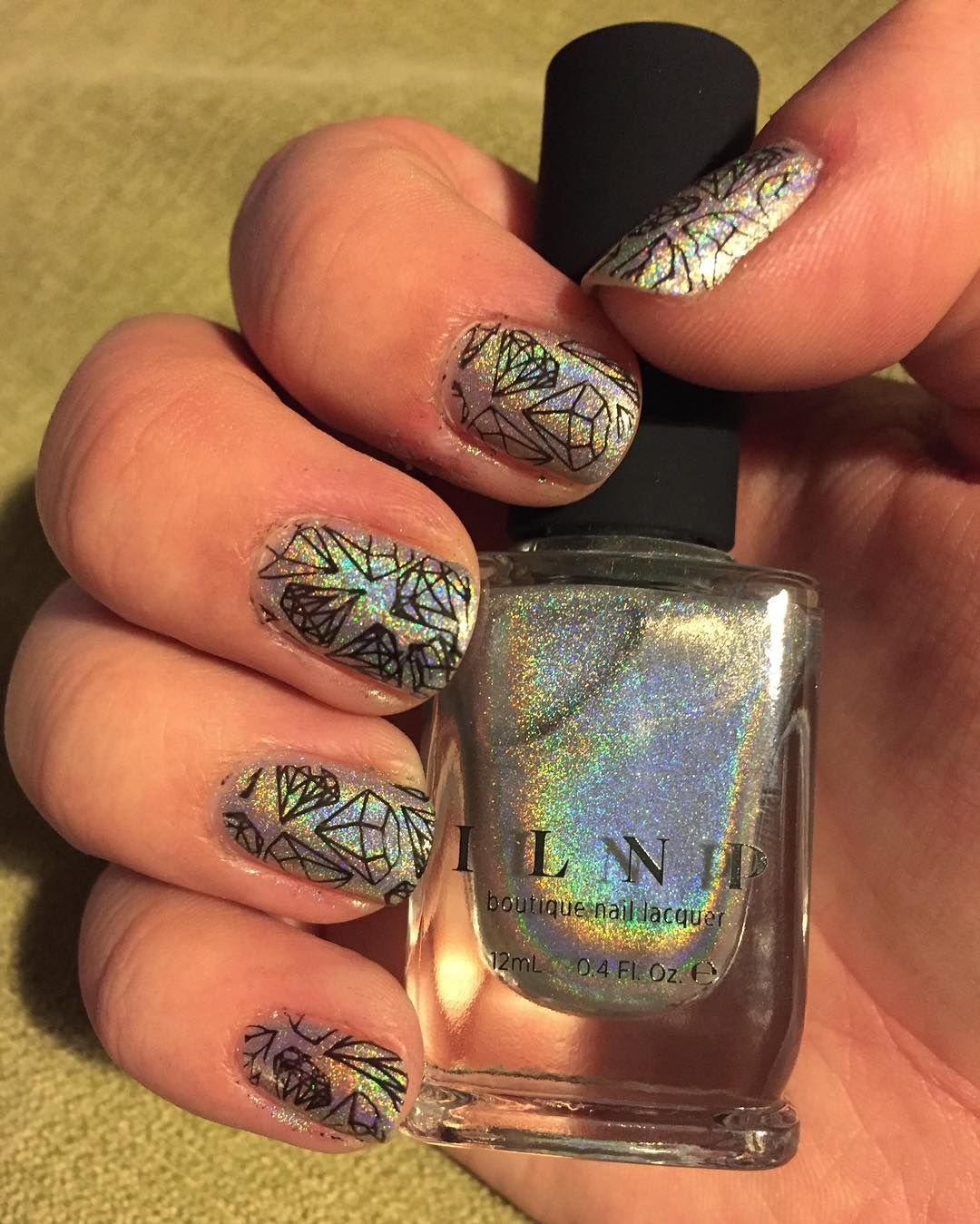 """Look how well this turned out!  My second time stamping was a brilliant success! And now I'm officially obsessed with it.   Base is @ilnpbrand Mega…"""