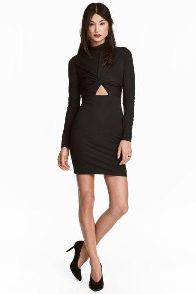 Vartalonmyötäinen mekko - Musta - Ladies | H&M FI 1