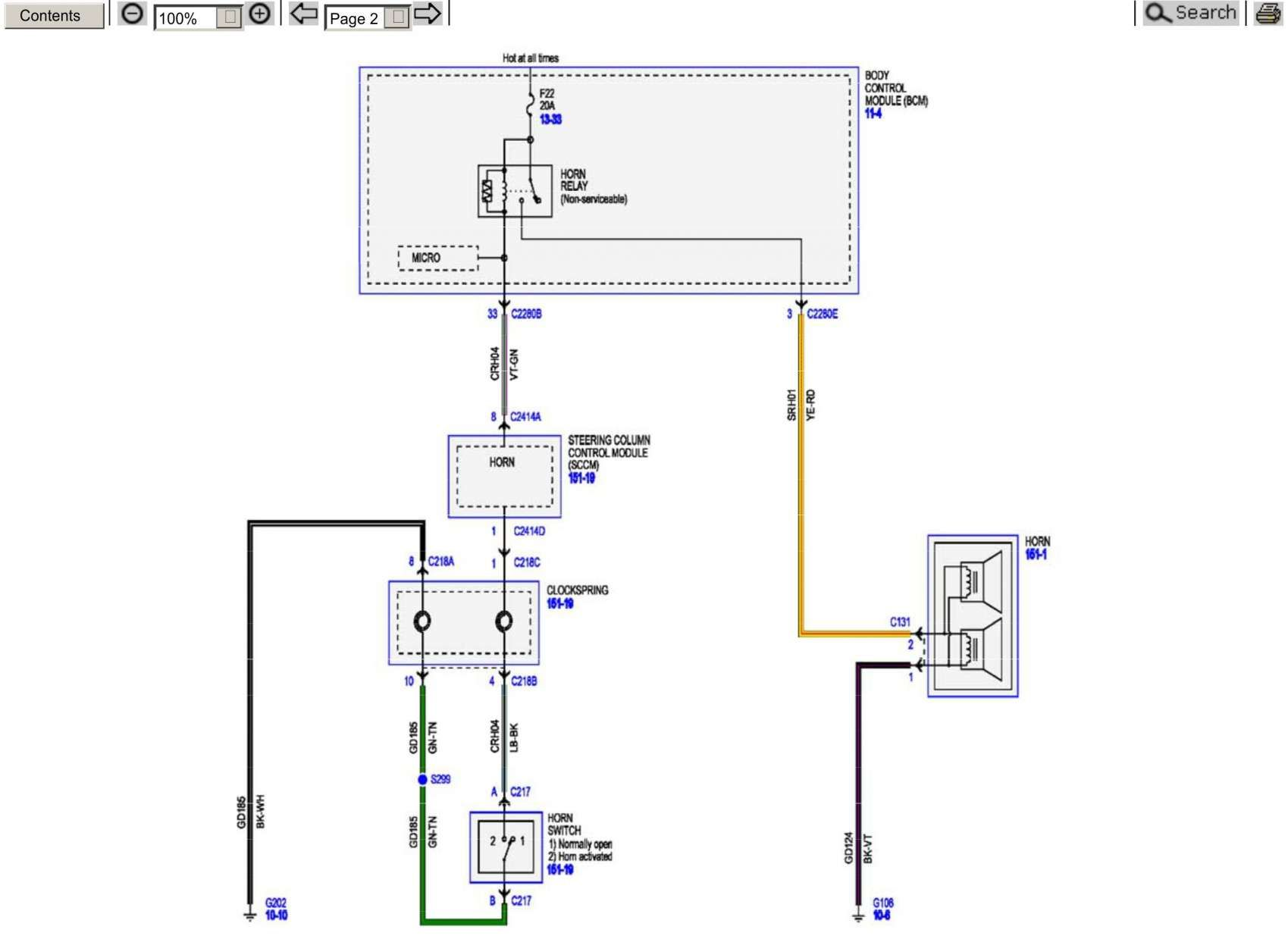 Motorcycle Horn Relay Diagram and Ford Excursion Horn