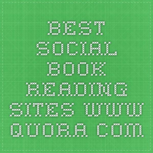 Best Social Book Reading Sites www.quora.com