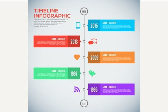 Modern timeline design template Business Infographic $300 - advertising timeline template
