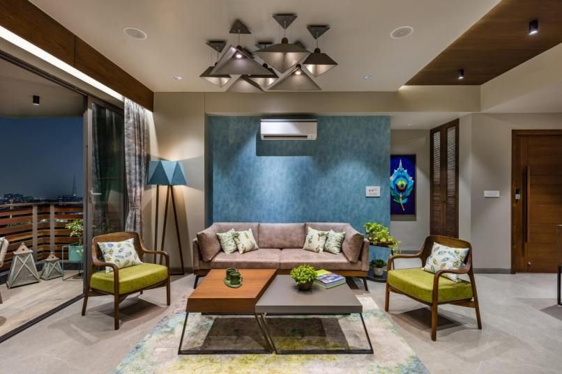 Loft Garden Inclined Studio Hall Room Design Living Room Designs India Apartment Interior