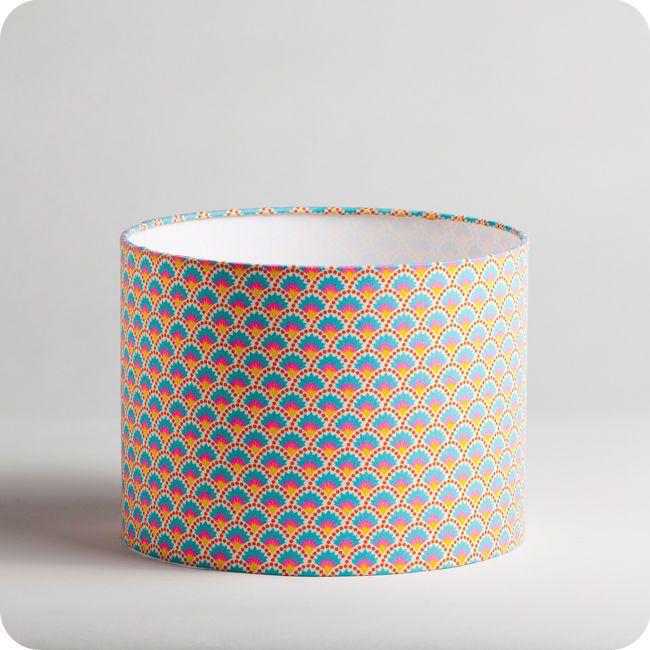 Tissu Abat Jour abat-jour / suspension cylindrique en tissu petit pan motif wasabi