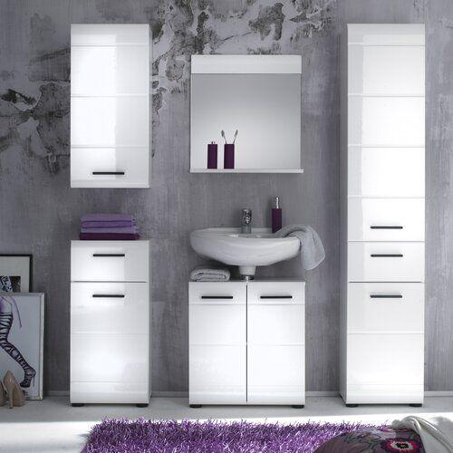 Metro Lane 6 Piece Bathroom Furniture Set With Mirror Bathroom