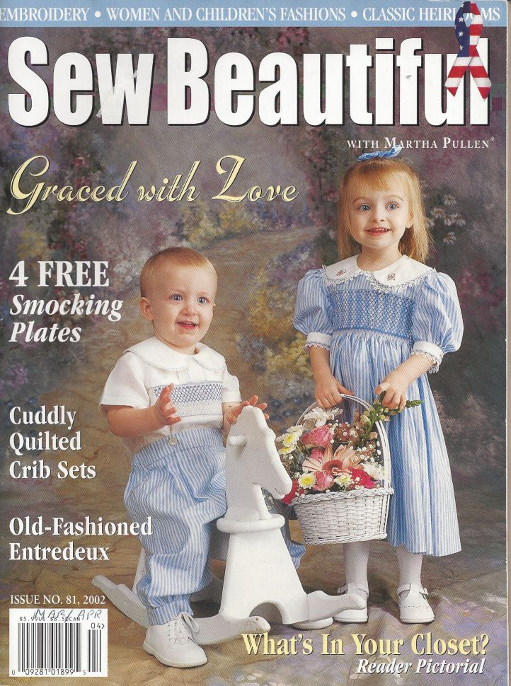 Sew Beautiful Martha Pullen Issue March April 2002 Heirloom Sewing Heirloom Sewing Sewing Smocking