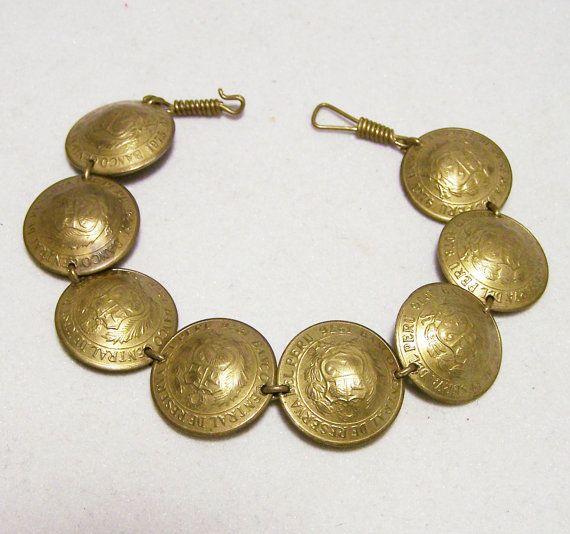 Cambodja coin bracelet made of genuine coins temple coin bracelet ceremonial bowls travel bracelet