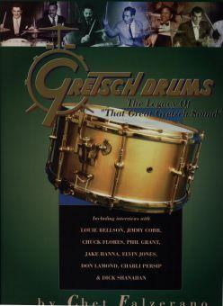 David Clive - Vintage Drum Rentals - 1935 Gretsch Broadkasters Kit displayed in The Gretsch Drum Book