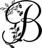 Clipart Of Alphabet Capital D Lettered Monogram Script U21685124 Search Clip Art Illustration Murals Drawings A Letter B Lettering Stencil Stickers