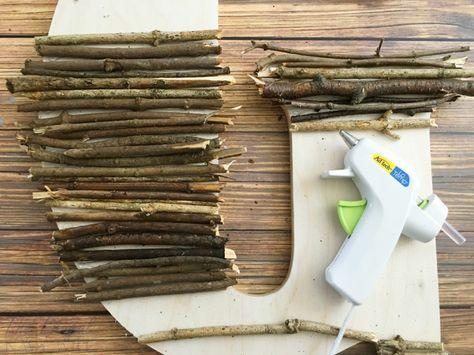 DIY Decor - Easy Twig Letter Decor