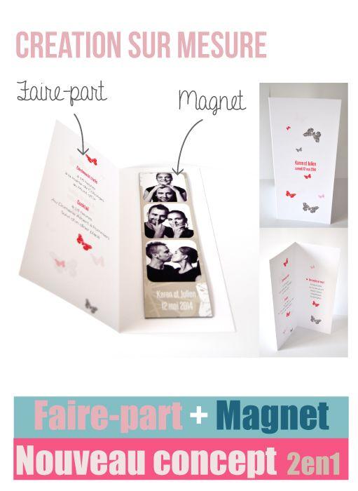 Faire part mariage photomaton 106 058 Mariage