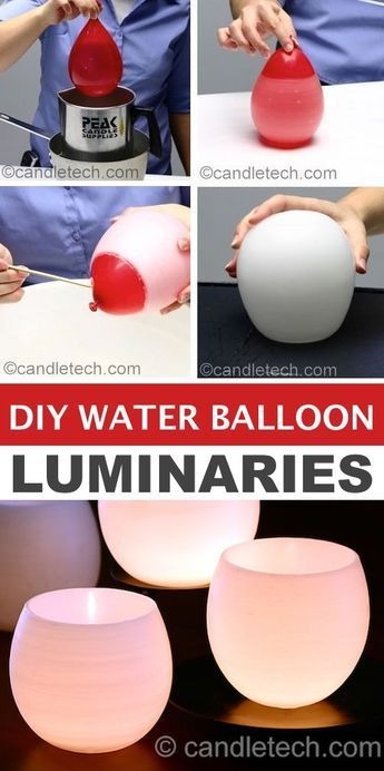 DIY Water Balloon Luminaries — Easy DIY craft ideas for adults for the home, fo…
