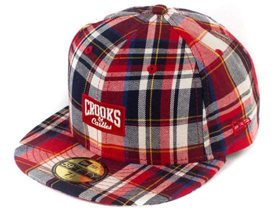 44b0a4fd8d4 Plaid Core Logo 59Fifty Fitted Cap by CROOKS   CASTLES x NEW ERA ...
