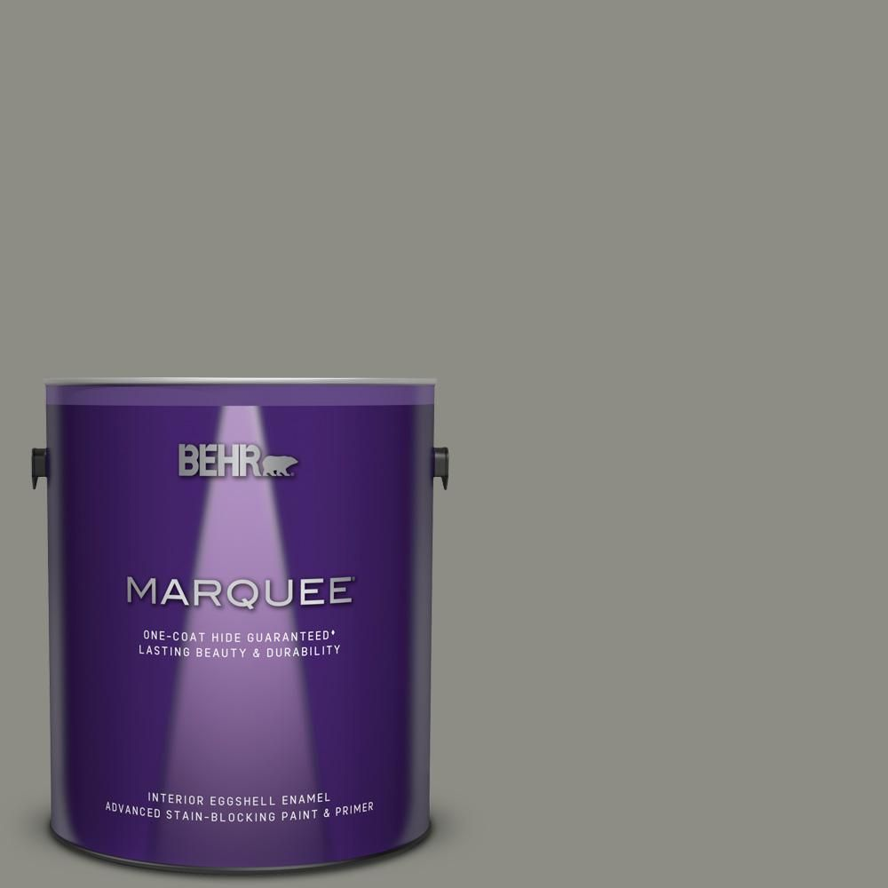Behr Marquee 1 Gal N370 5 Incognito One Coat Hide Eggshell Enamel Interior Paint And Primer In One 245401 Behr Marquee Behr Marquee Paint Interior Paint