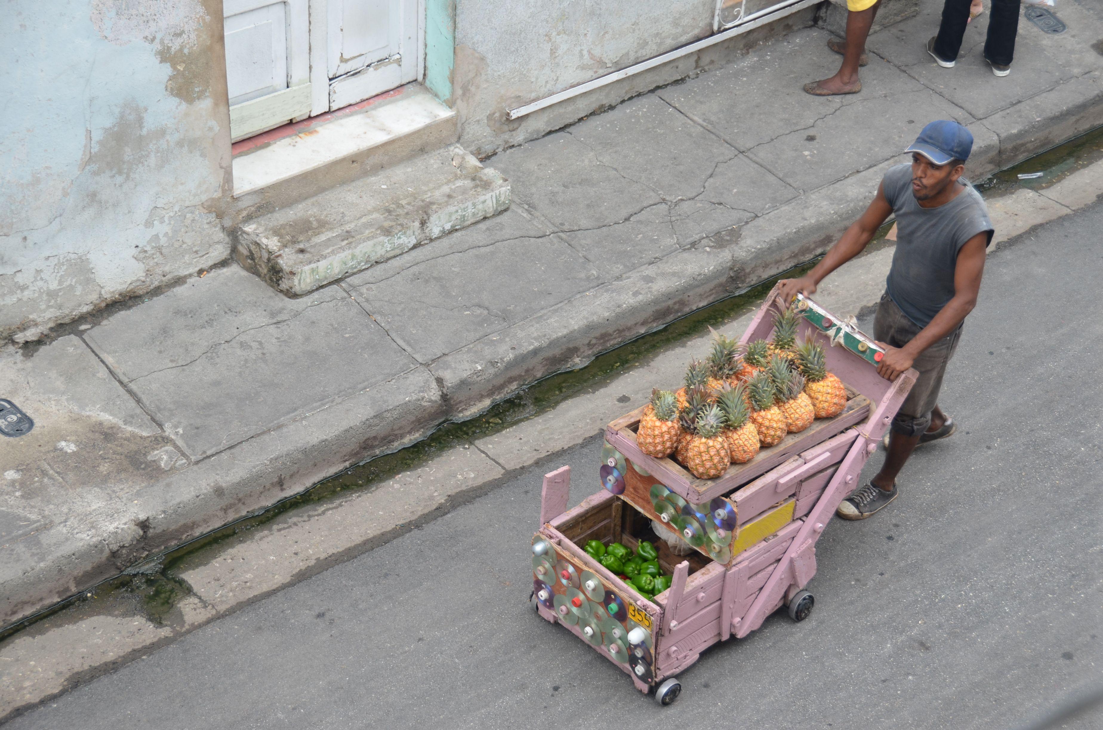 Straßenverkäufer in der Padre Pico