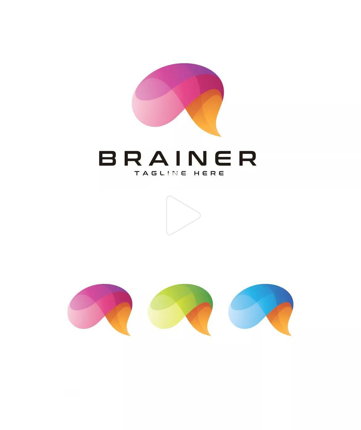 Brainer Brain Logo Template Ai Eps In 2020 Brain Logo Logo Templates Education Logo Design