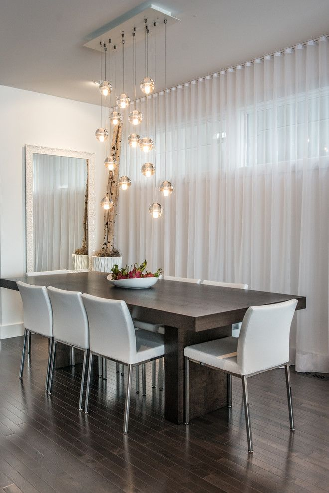 Light Silver Curtains Dining Room Contemporary With White Dining Chair Sheer Contemporary Dining Room Beautiful Dining Rooms Contemporary Dining Room Lighting