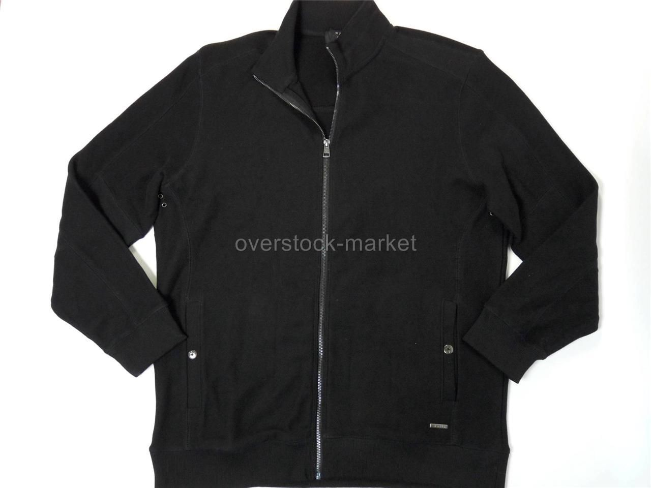 Costco men's knit zippered cardigan in black--what can I say, it ...