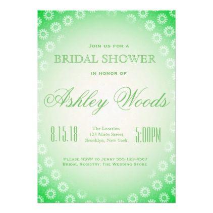 #bridal #shower #invitations - #Green Floral Bridal Shower Card