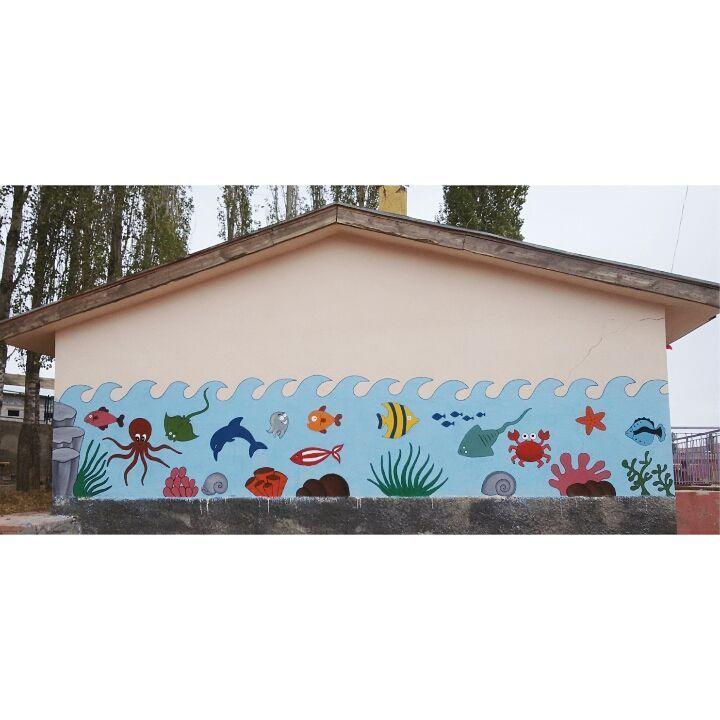 Koy Okulu Duvarboyama Denizalti Duvar Cennet Sinif Dekorasyonu