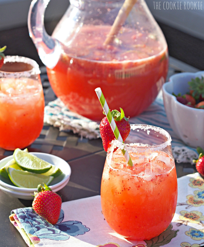 Check Out Strawberry Margarita Punch. It's So Easy To Make