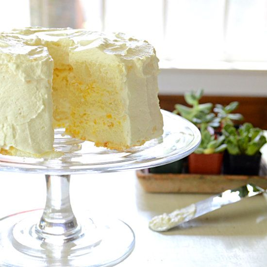 Angel Food Cake With Pineapple Cool Whip Frosting