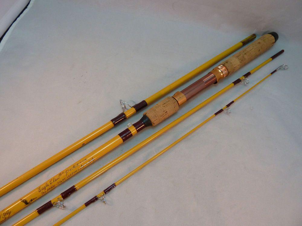 7f810839ba5 Wright McGill Eagle Claw Packit PK 601 7 1/2 Fly Spin Rod Combo Sock Tube  USA #EagleClaw