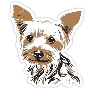 Dog Sticker By Purplekc43 Hund Malen Yorkshire Terrier Und Tiere