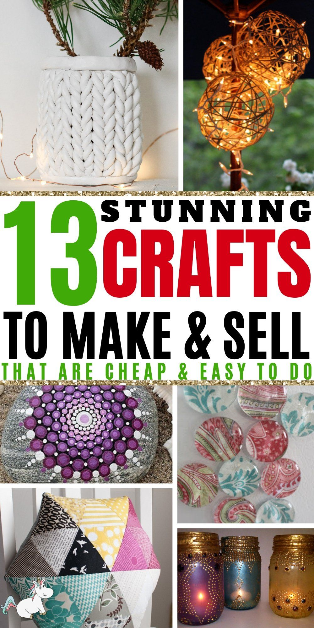 13 Easy Crafts To Make And Sell For Extra Money in 2019 #craftstosell