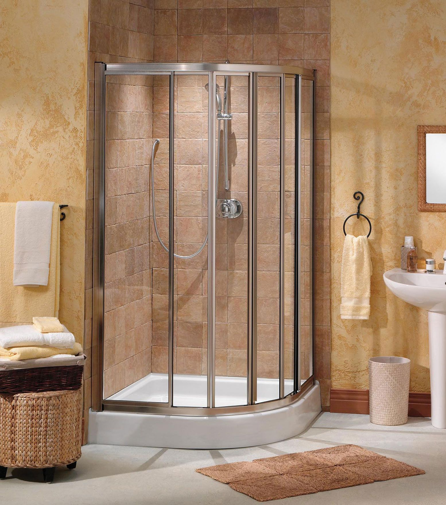 Contoura NeoRound Corner Shower Door 40X40 137540