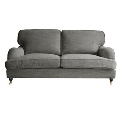 Grey 'Alethea' large sofa with castors at Good