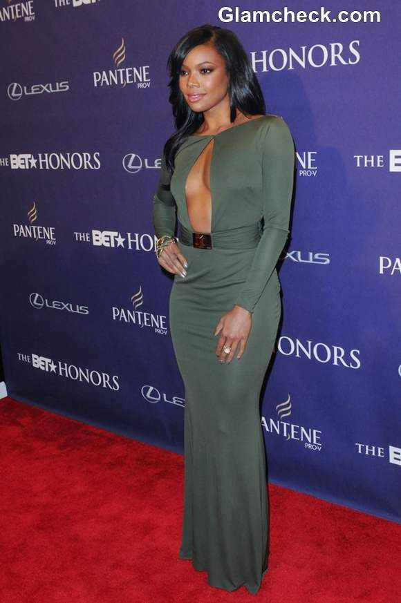Gabrielle Union Green Dress