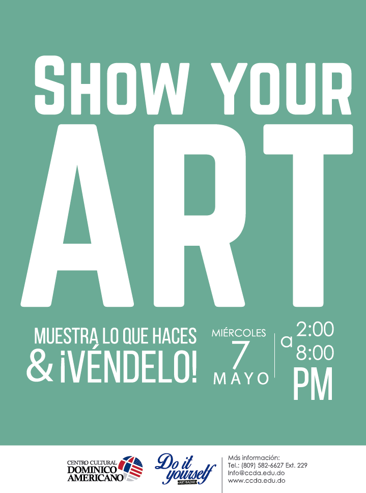 Diseño para el Art Bazar del Centro Cultural Dominico Americano, Do It Yourself
