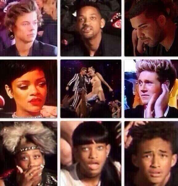 Celebrities reactions to Miley's performance hahahaha