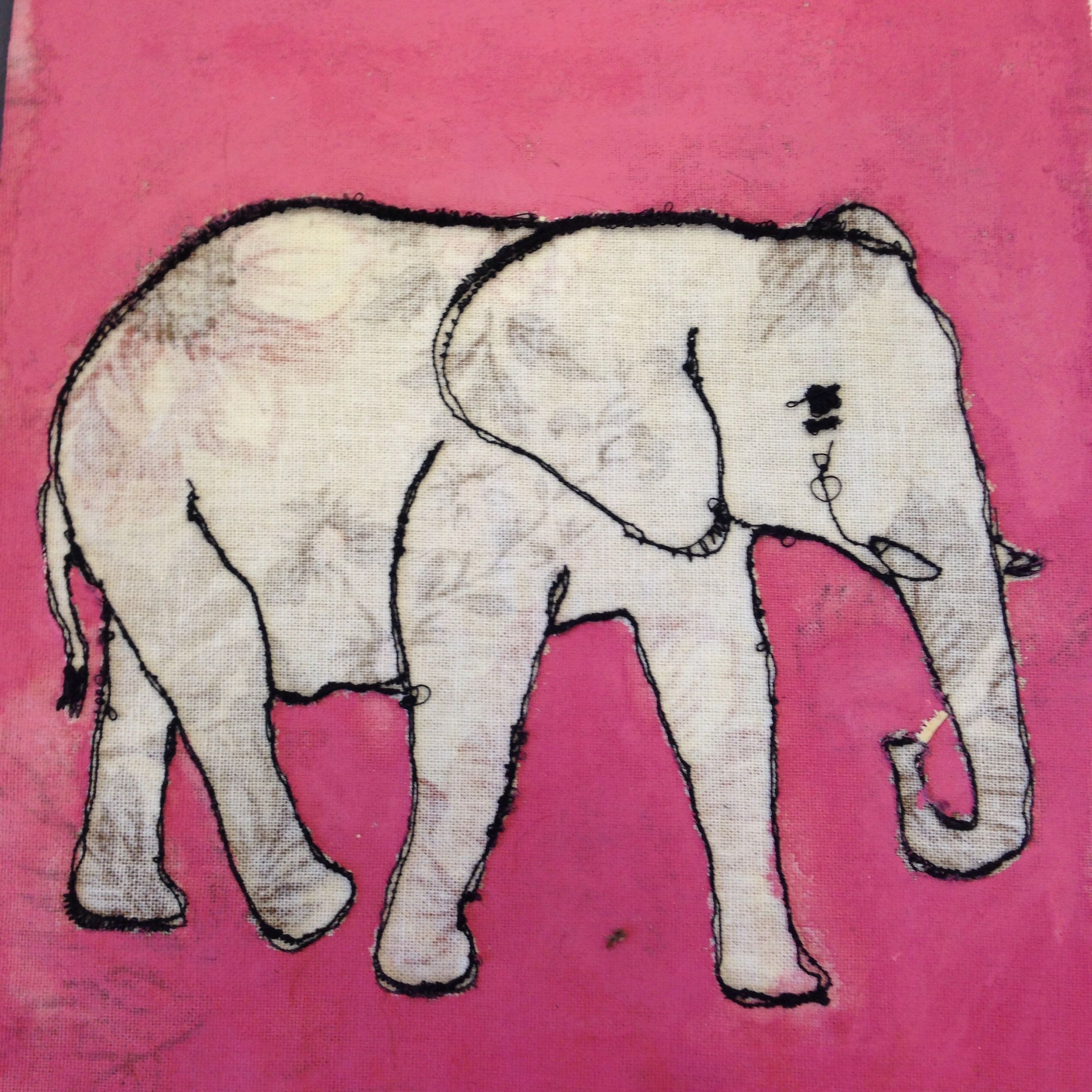 The fabric inside the elephant can be different and it will be repeated four times