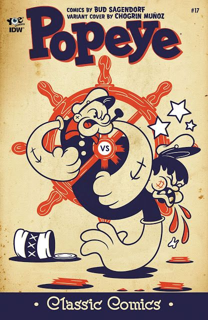 Popeye Classic Comic Repro Cover Poster