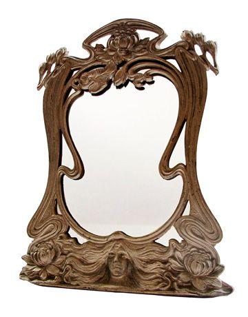 Vintage art nouveau mirror what is it what is it worth for Miroir art nouveau