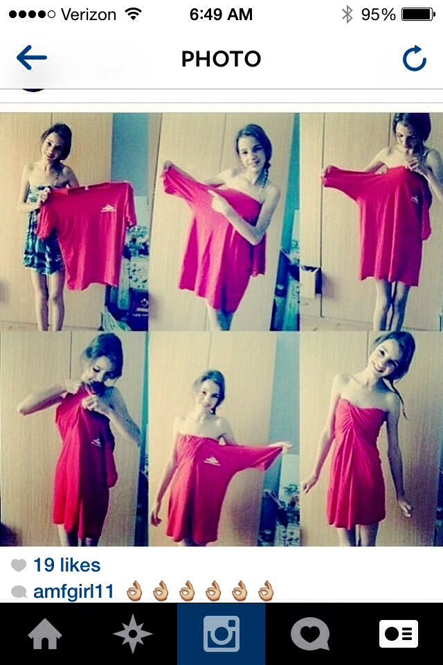 How to make a shirt dress into a