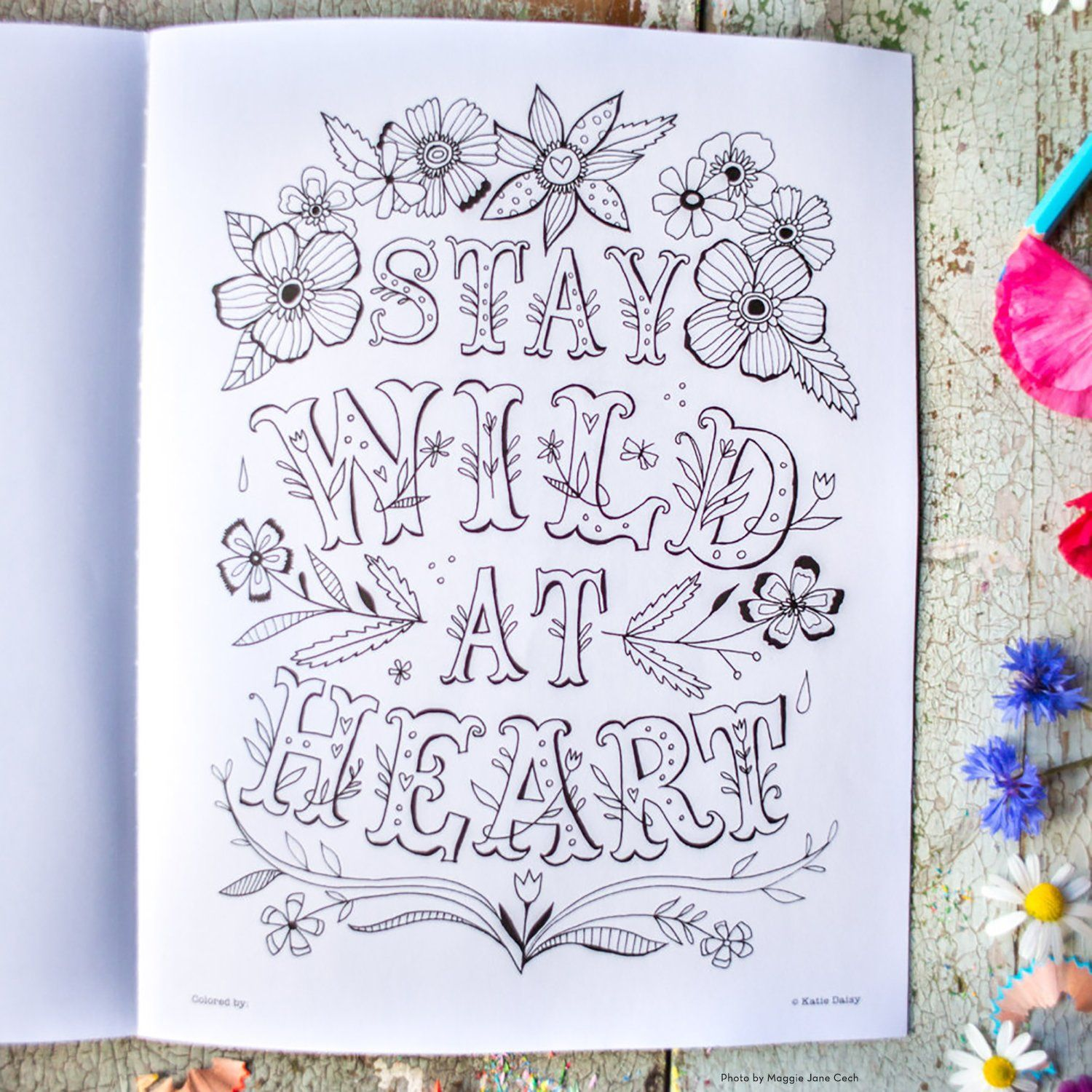Amazon Com Create Magic A Coloring Book By Katie Daisy For Adults And Kids At Heart 9781631362422 Katie Daisy Amb Heart For Kids Coloring Books Daisy Art