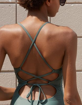 77c7312c97 Aerie Tie Back One Piece Swimsuit by American Eagle Outfitters