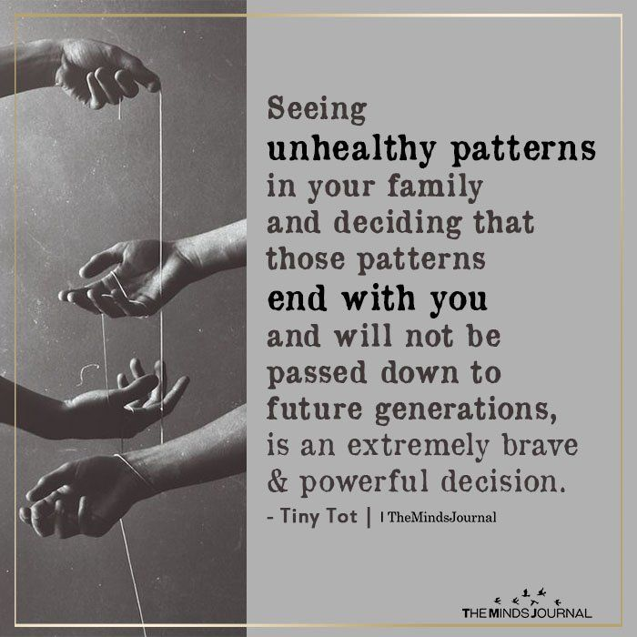 Seeing Unhealthy Patterns In Your Family