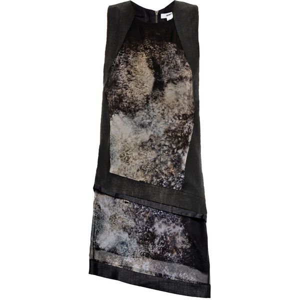 Helmut Lang Oxide print double layer dress (€525) found on Polyvore