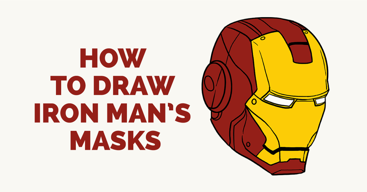 learn how to draw iron mans mask easy step by step drawing tutorial