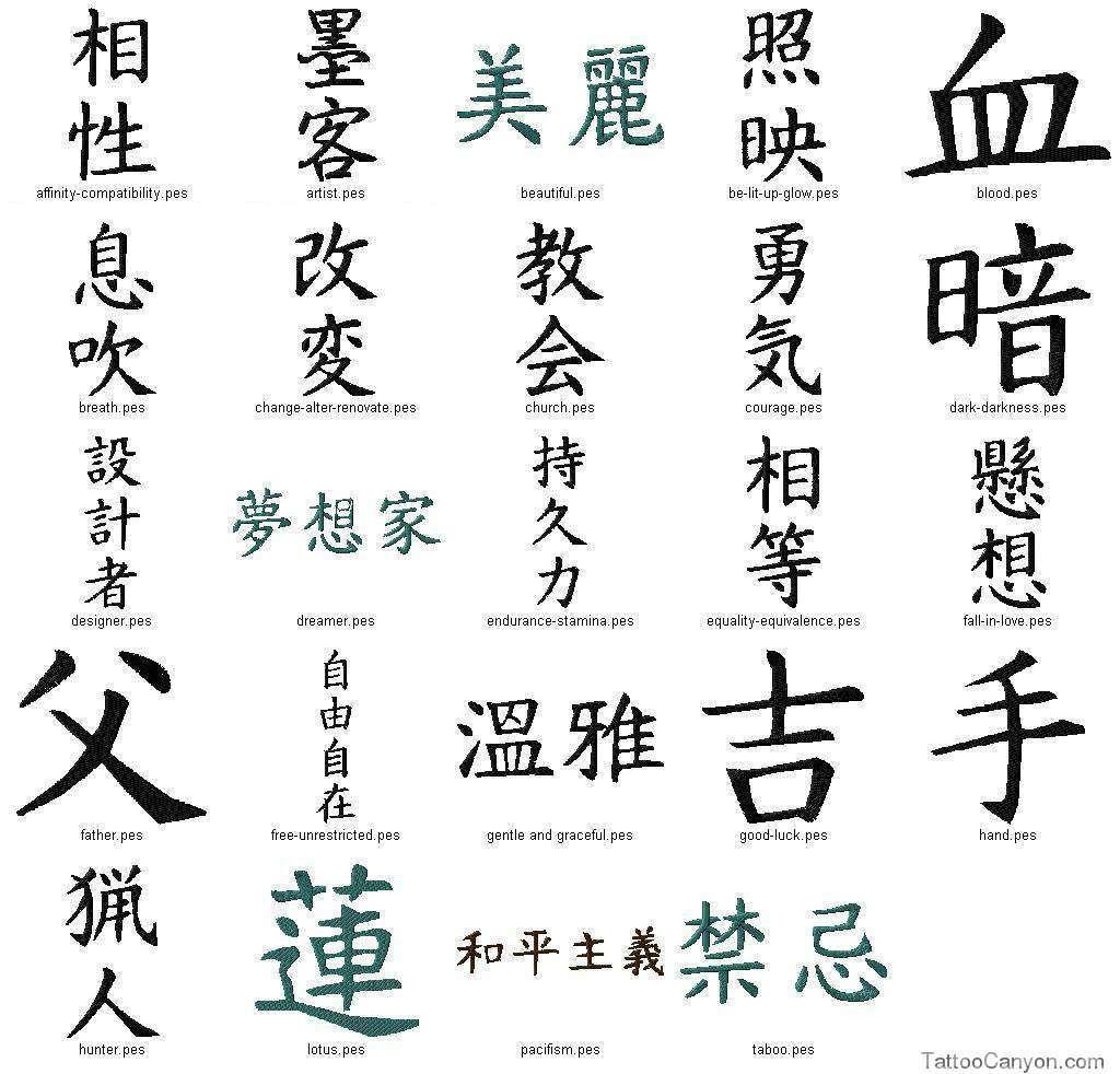 Kanji Symbols 002 Japanese Home Tattoo Designs Free