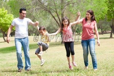 Happy family on vacation, outdoor