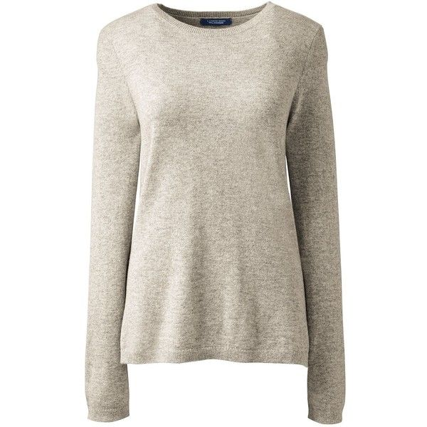 Lands' End Women's Petite Cashmere Sweater ($149) ❤ liked on ...