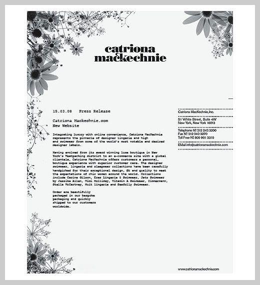 Company Letterhead Design  Catriona Mackechnie  Personal
