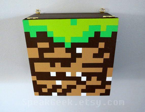 Minecraft Dirt Block Shelf Shadow Box Block Shelf